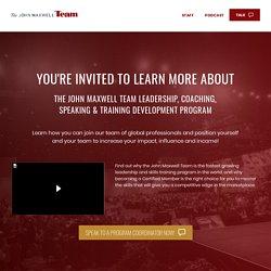 John Maxwell Team Certification Program