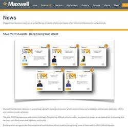 Maxwell GeoSystems Merit Awards