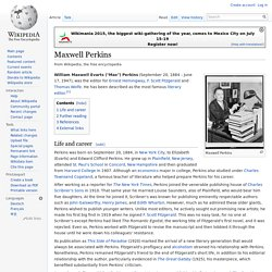 Maxwell Perkins - Wikipedia, the free encyclopedia