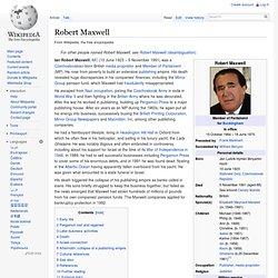Robert Maxwell