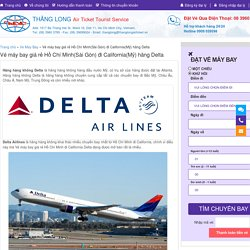 Vé máy bay giá rẻ Hồ Chí Minh đi California Delta