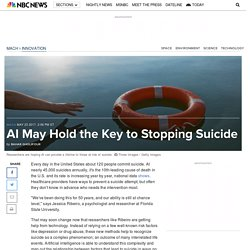 AI May Hold the Key to Stopping Suicide