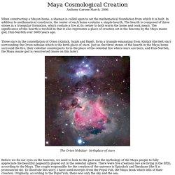 Maya Cosmological Creation