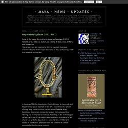 Maya News Updates 2012, No. 2