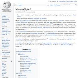 Maya (religion)