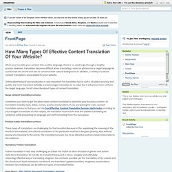 Get a Chance To Know About Types of Effective Content Translation