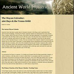 Mayan Calendar of 260 days