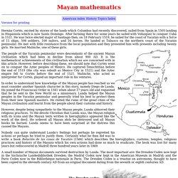 Mayan mathematics