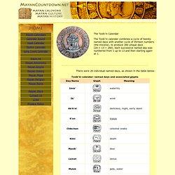 Mayan Tzolkin Calendar