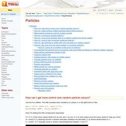 MayaParticles < Maya < TWiki