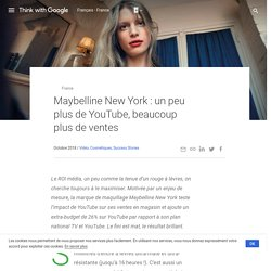 Maybelline New York : un peu plus de YouTube, beaucoup plus de ventes