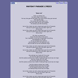MAYDAY PARADE LYRICS - Black Cat