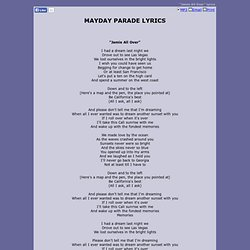 MAYDAY PARADE LYRICS - Jamie All Over