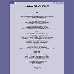 MAYDAY PARADE LYRICS - Stay