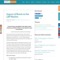 Impact of Brexit on the LSP Market
