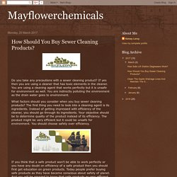 How Should You Buy Sewer Cleaning Products