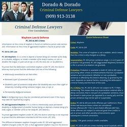 PC 203 & 205 Defense, Sentence, & Law