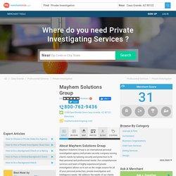 Mayhem Solutions Group - Casa Grande AZ 85122