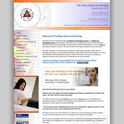 Mayo School of Astrology, UK online Astrology school