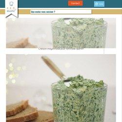 Cresson mayonnaise pour tartinade apéritif