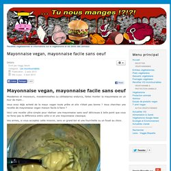 Mayonnaise vegan, mayonnaise facile sans oeuf