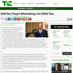 Hell Yes, Mayor Bloomberg. I'm With You.