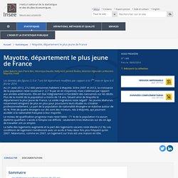 Mayotte, département le plus jeune de France - Insee Première - 1488
