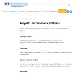 Mayotte - Informations pratiques