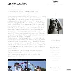 Angela Lindvall : BLOG