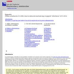 PE - Trad. ES - Guía del Traductor - Mayúsculas y minúsculas