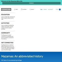 Mazamas: An abbreviated history