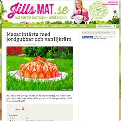 Mazarintårta med jordgubbar och vaniljkräm - Jills MAT