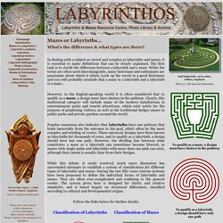 Mazes or Labyrinths ?