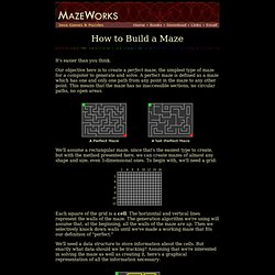 How to Build a Maze