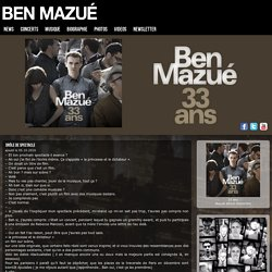 Ben Mazué – Site officiel