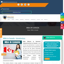 MBA in Canada - Check Fees, Duration, Top Colleges, Indian Students