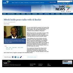 Mbeki holds peace talks with Al Bashir:Monday 3 August 2015