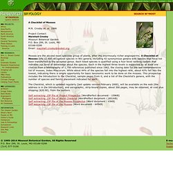 Checklist of the Mosses