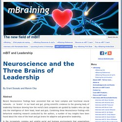 Neuroscience and the Three Brains of Leadership
