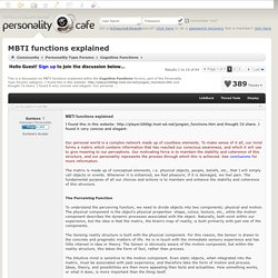 MBTI functions explained