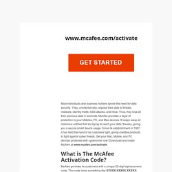McAfee.com/Activate – Enter your 25-digit activation code – My McAfee