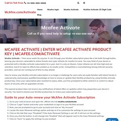 Mcafee.com/activate - Install McAfee - McAfee Activate With Product key