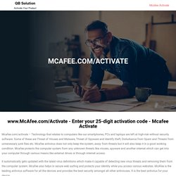 Mcafee.com/activate - Activate Your Product -Mcafee Activate
