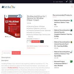 Buy McAfee AntiVirus - SoftBest2Buy
