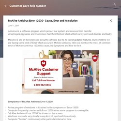 McAfee Antivirus Error 12030- Cause, Error and its solution