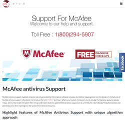 Mcafee Support Toll Free:-1-800-294-5907 USA/CANADA