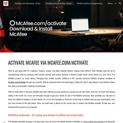 mcafee.com/activate - mcafee activate 25 digit key