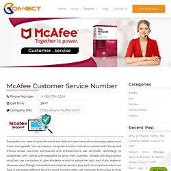 McAfee Customer Support Number: 1855-734-2269