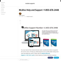 McAfee Help and Support +1-855-676-2448