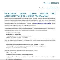 mcafee ondersteuning belgie